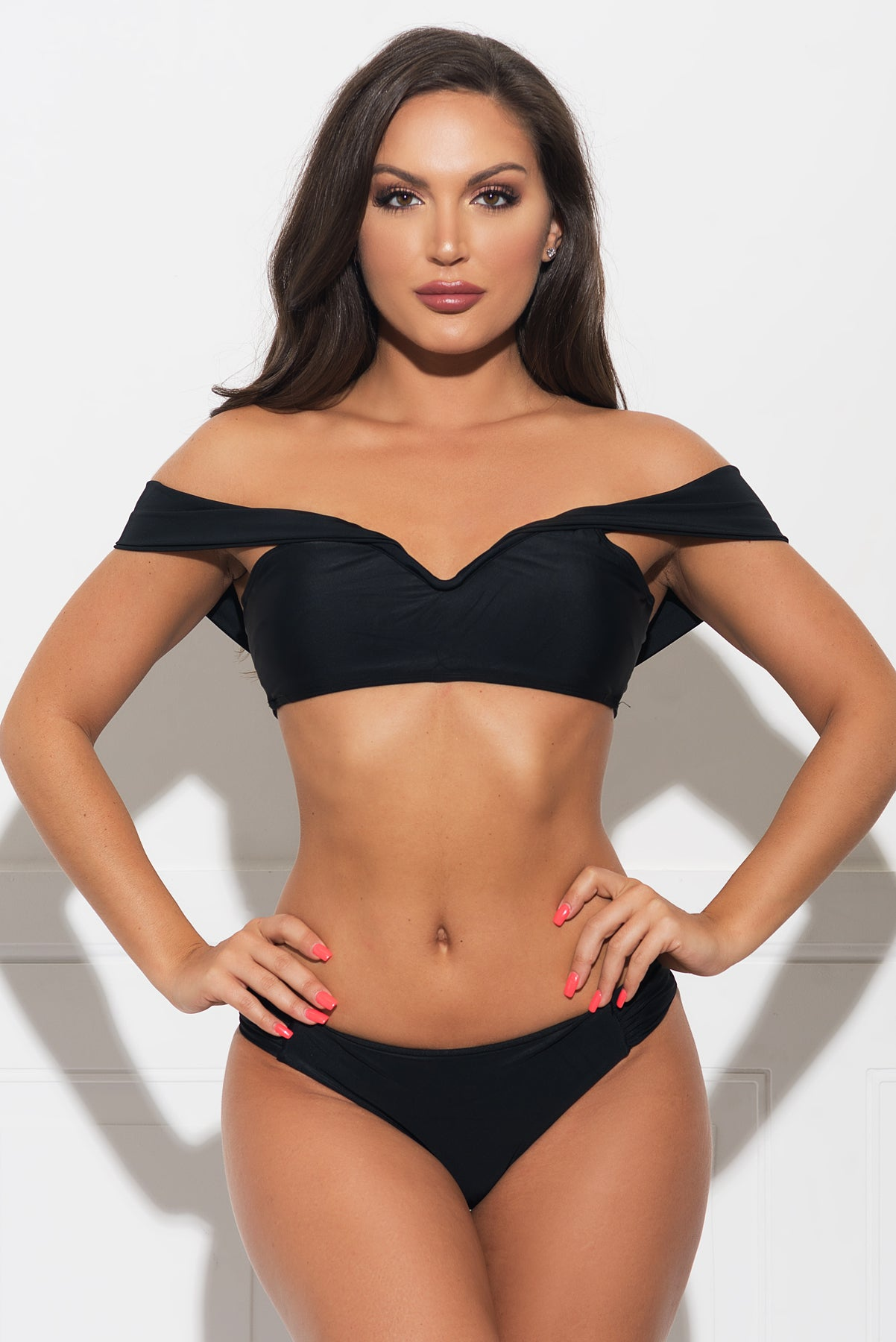 Honeymoon Island Two Piece Swimsuit - Black