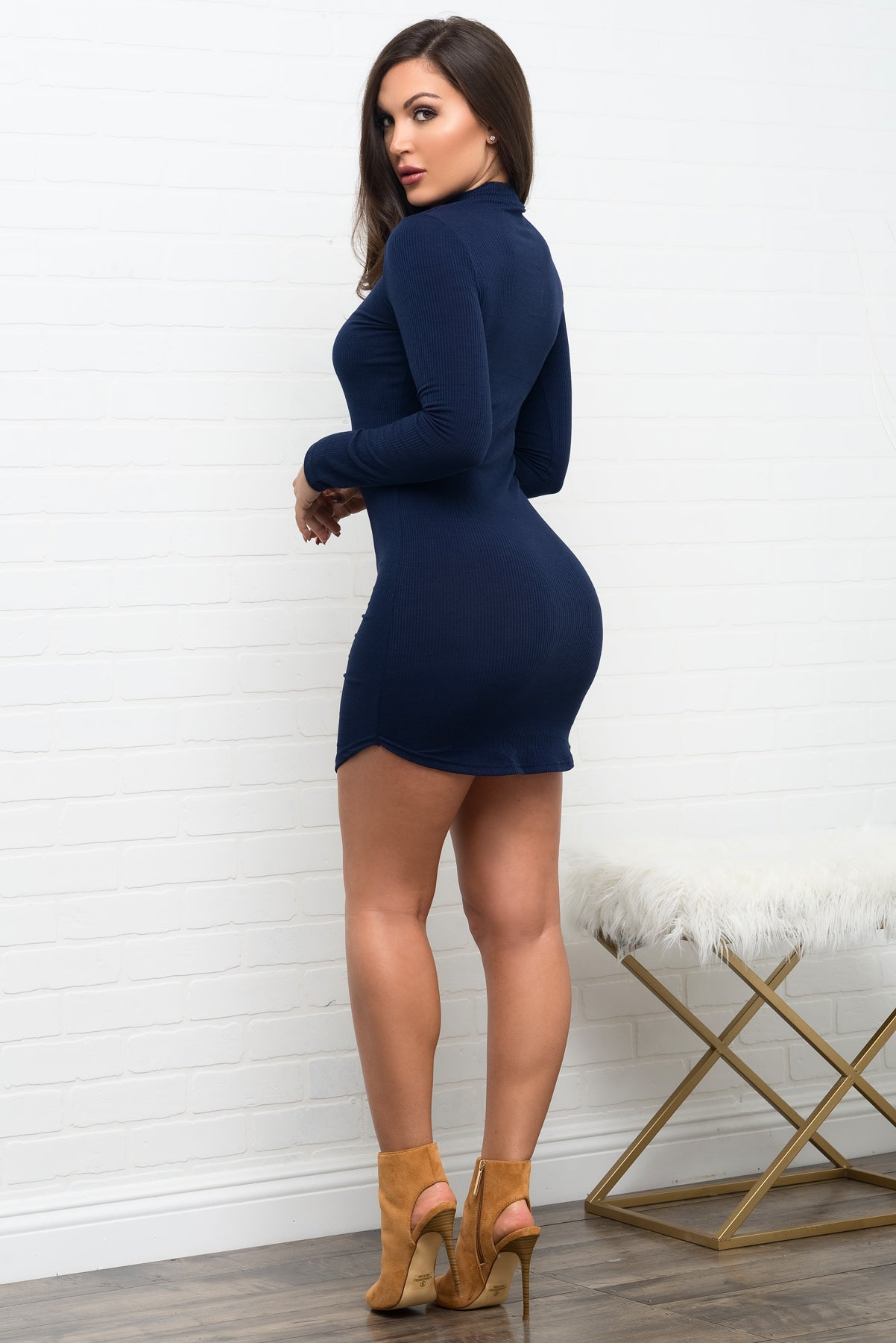 Rayne Dress - Navy