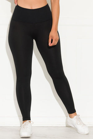 A Better Basic Waisted Leggings Black