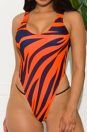 Majestic Coastline One Piece Swimsuit Orange