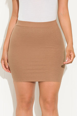 Desi Mini Skirt Khaki