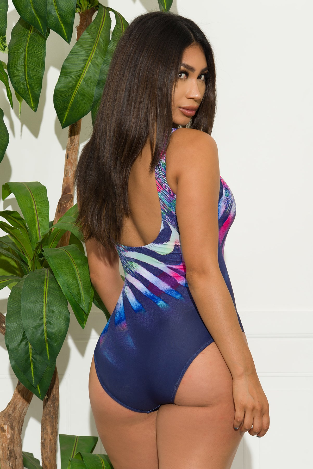 Mirrored Strand One Piece Swimsuit