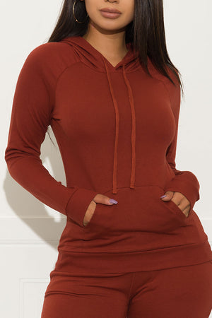 Set You On Track  Sweater Terracotta