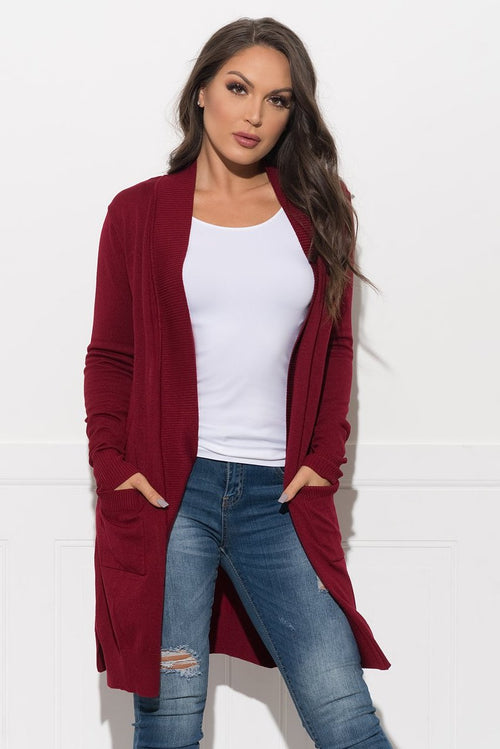 Kyrliam Cardigan - Burgundy