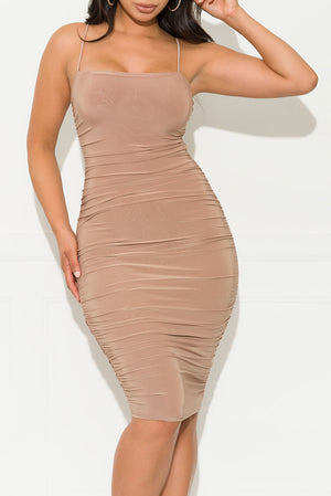 Let it Be Midi Dress Mocha