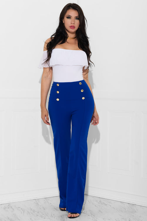 Vanessa Royal Blue Pants
