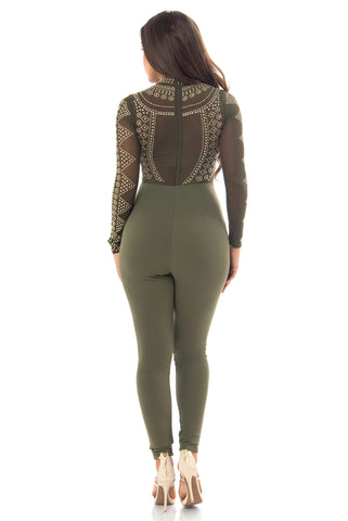 Isabella Jumpsuit Olive - Fashion Effect Store  - 2