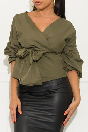 Rising Star Blouse Olive