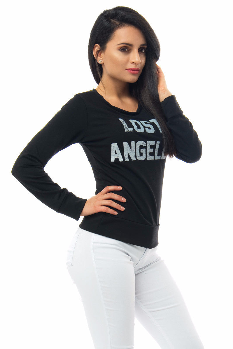 Lost Angeles Black Top - Fashion Effect Store  - 1