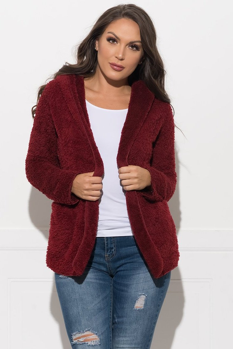 Raine Coat - Burgundy