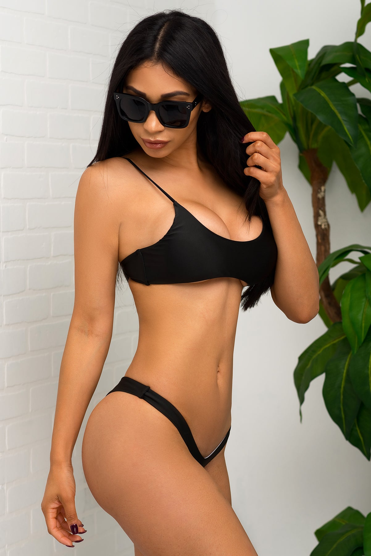 Key West Beach Two Piece Swimsuit - Black