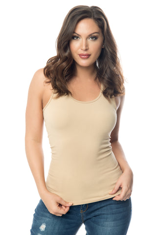 Christan Nude Tank Top - Fashion Effect Store  - 1