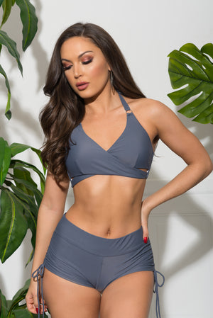 MARGARET BEACH TWO PIECE SWIMSUIT  Silver Grey