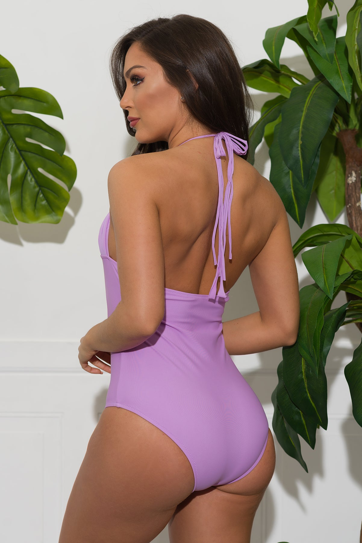 Salty River One Piece Swimsuit - Lavender