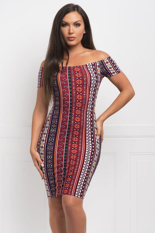 Zandrine Off Shoulder Dress