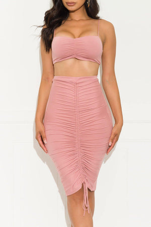 All About Me Two Piece Set Mauve