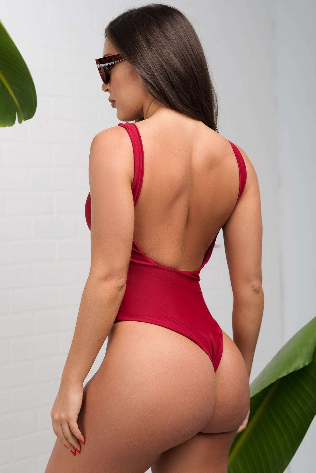 Tobago One Piece Swimsuit - Burgundy