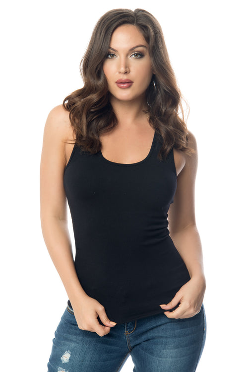 Christan Black Tank Top - Fashion Effect Store  - 1