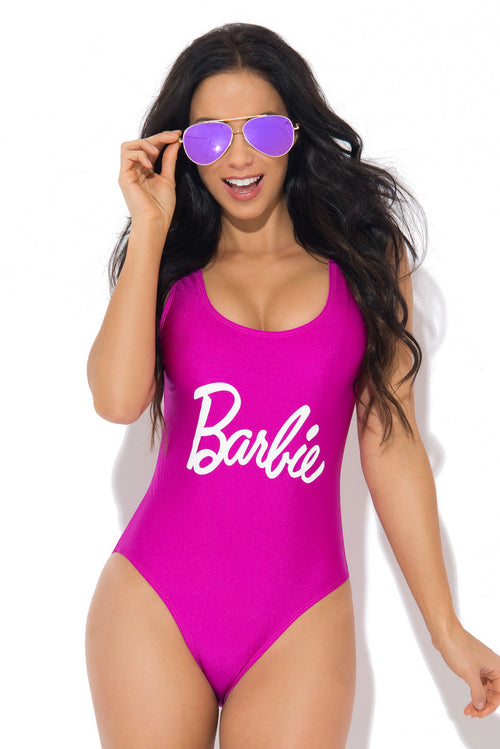 Barbie One Piece Swimsuit Purple - Fashion Effect Store  - 1
