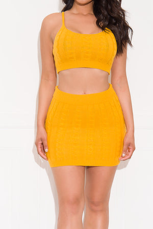 Something Real Two Piece Set Mustard