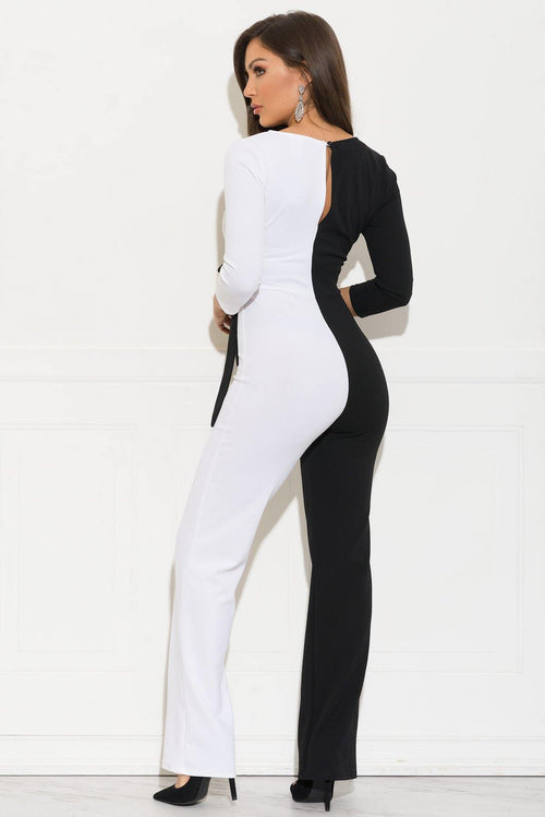 Akenna Jumpsuit - Black & White