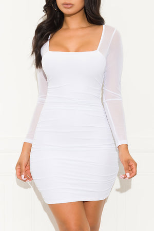 Open Minded Dress White