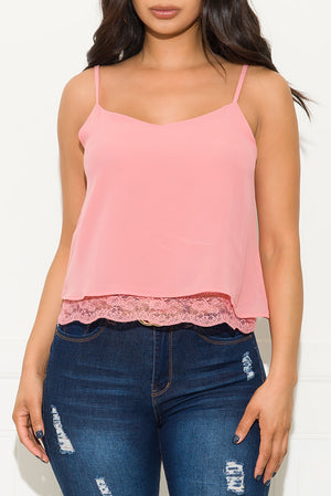 Shake It Off Top Coral Pink