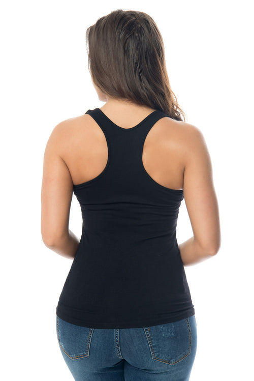 Christan Black Tank Top - Fashion Effect Store  - 2