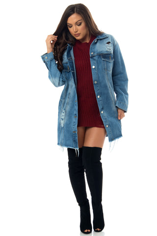 Beverly Denim Jacket - Fashion Effect Store  - 1