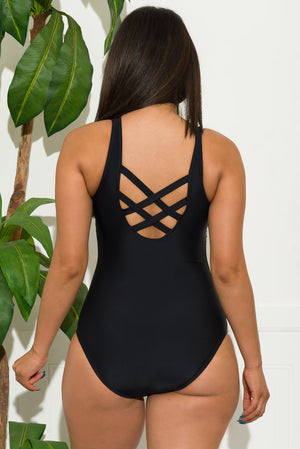 Jade Coast  One Piece Swimsuit Black
