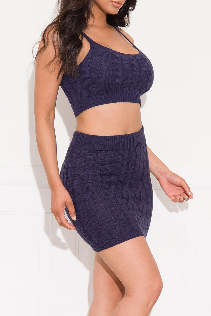 Something Real Two Piece Set Navy