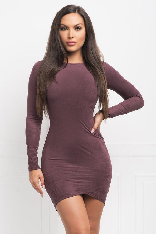 Robin Suede Dress - Purple