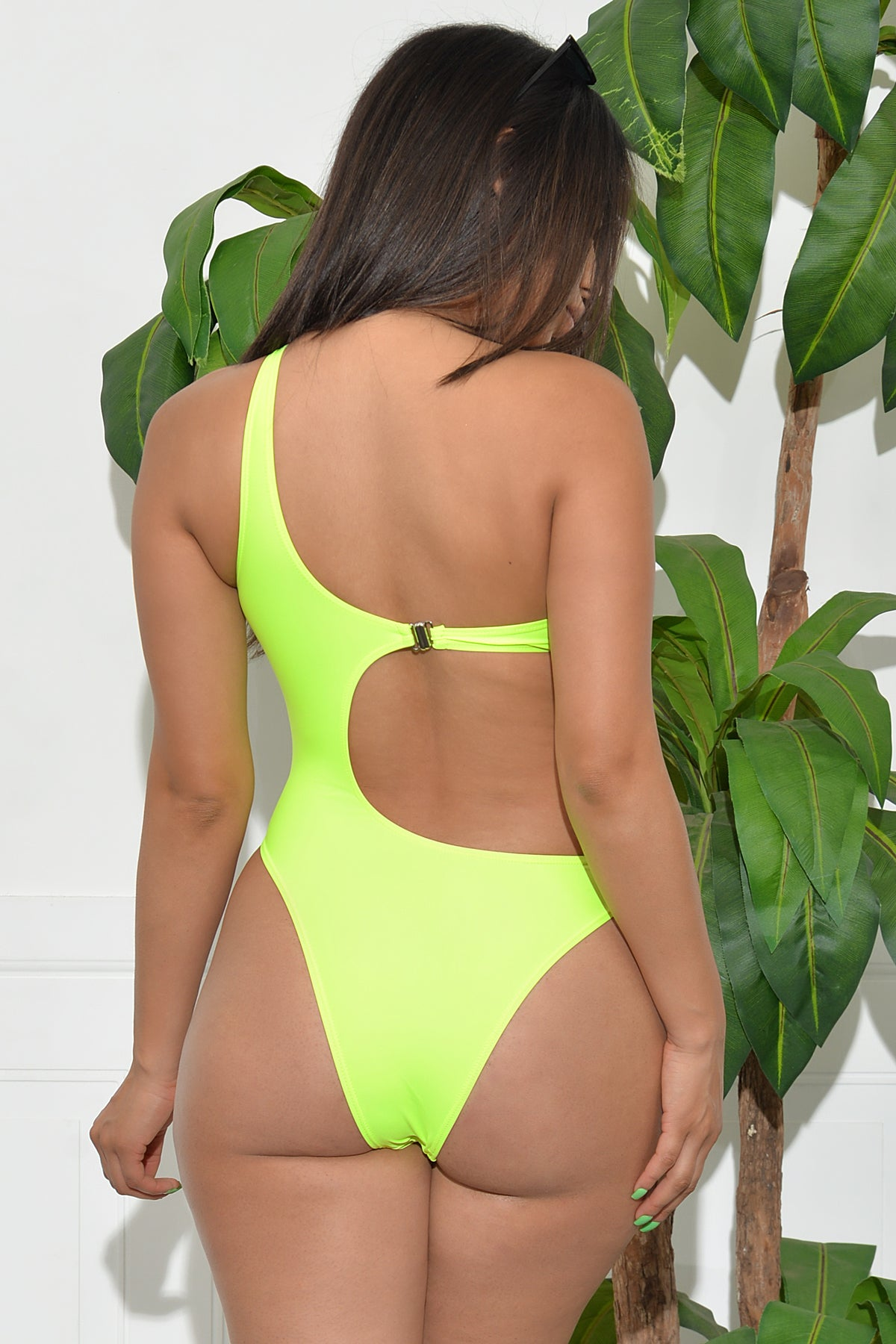 Seagrass Bay One Monokini - Neon Green