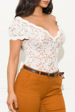 Be Mine Lace Blouse Off White