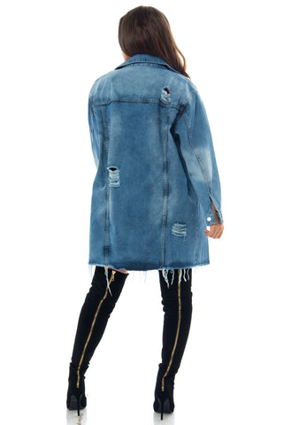 Beverly Denim Jacket - Fashion Effect Store  - 2
