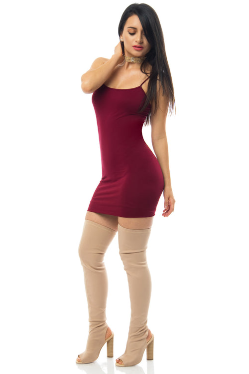 Irresistible Burgundy Mini Dress - RESTOCKED - Fashion Effect Store  - 1