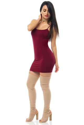 Irresistible Burgundy Mini Dress - Fashion Effect Store  - 1