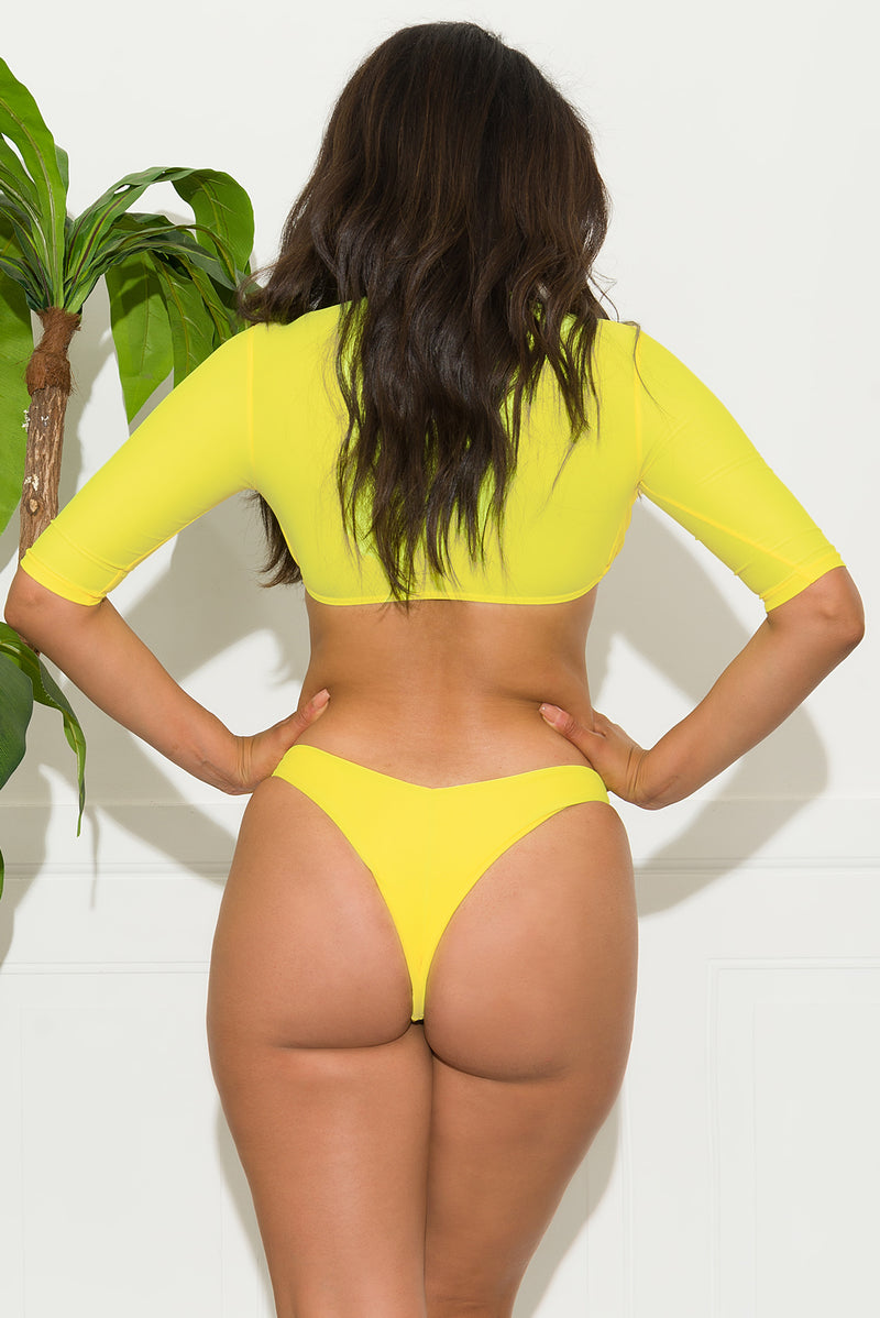 Punta Cana Two Piece Swimsuit Yellow