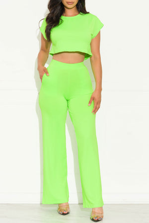 Monike Set Neon Green