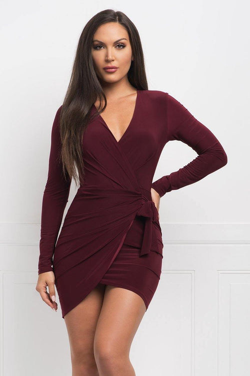 Alexa Dress - Burgundy