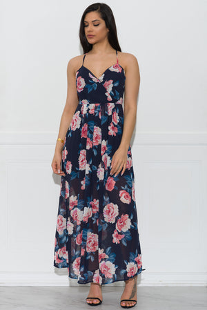 Aubrey Maxi Dress Blue