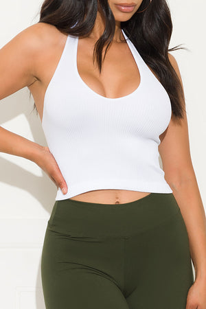 What I Want Crop Top White