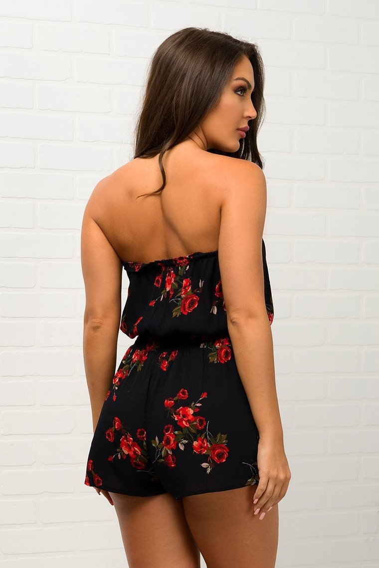 Osmary Romper -  Black