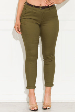 Lets Talk About It Pants Olive - Fashion Effect Store