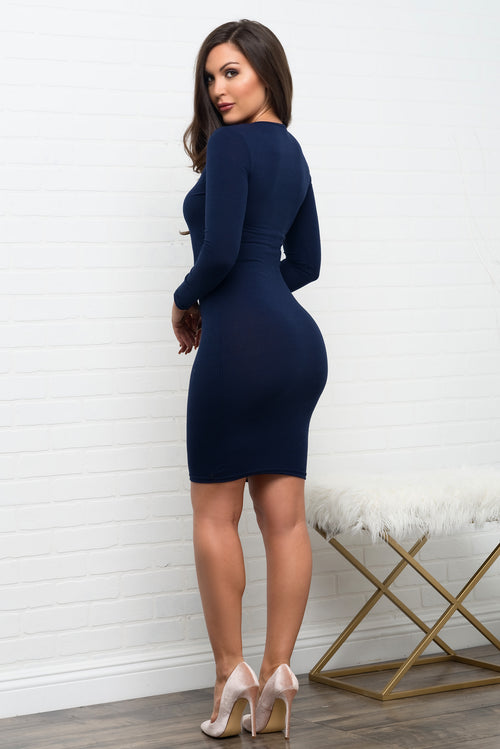 Fanny Dress - Navy