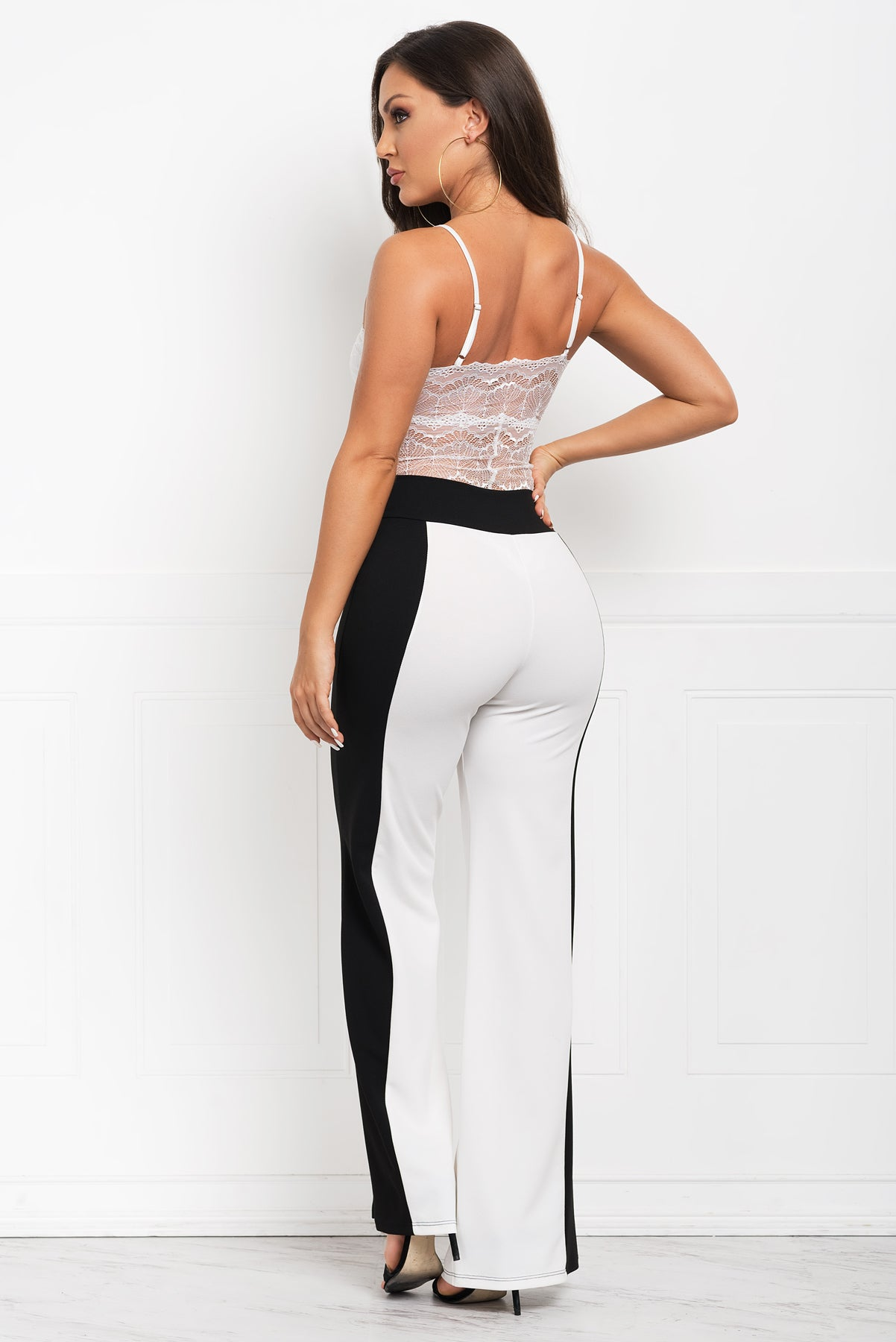 Beverly Pants- White And Black