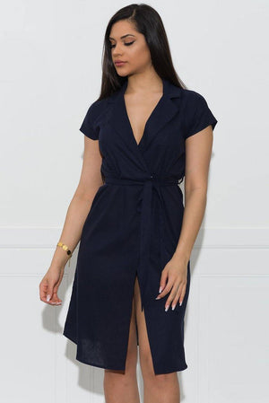 Alayna Dress  Navy