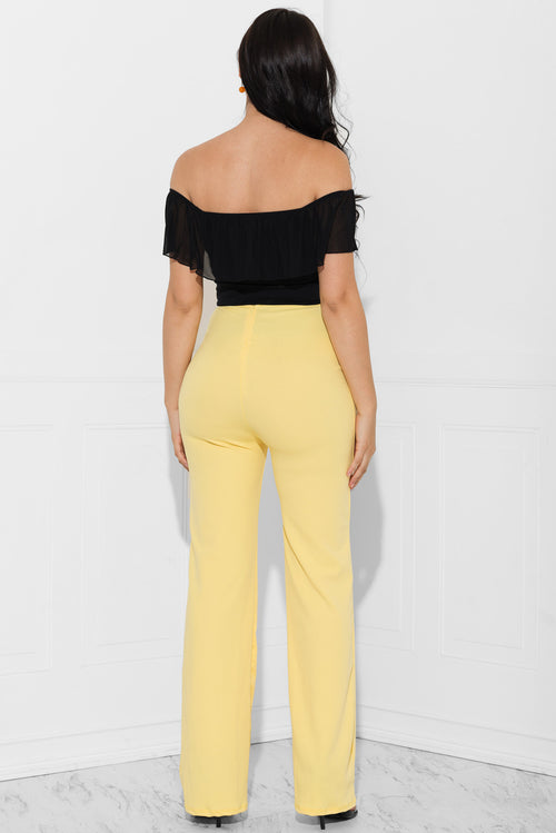 Vanessa Yellow Pants
