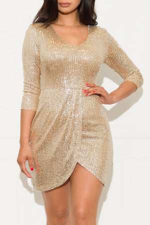 Wishful Thinking Dress Gold