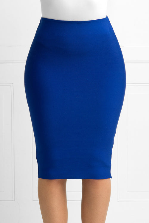 Rachel Royal Blue Bandage Skirt - Fashion Effect Store  - 2